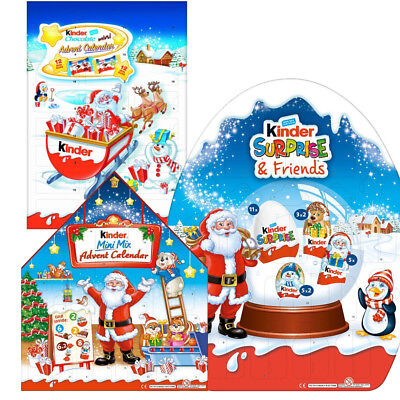 Kinder Chocolate Mini Mix Advent Calendar Christmas Count Down Gift Pack Nestle
