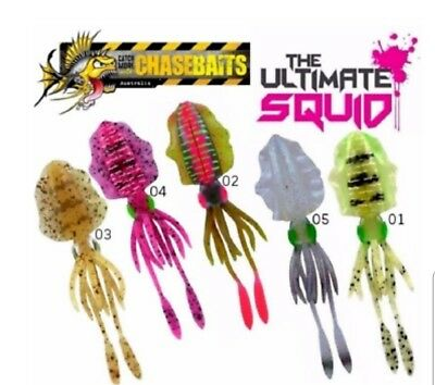 Chasebaits The Ultimate Squid 150mm Soft Plastic Lure
