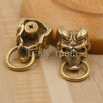 1 x Brass Japan demon devil conchos bag wallet chain screwback  O-ring connector