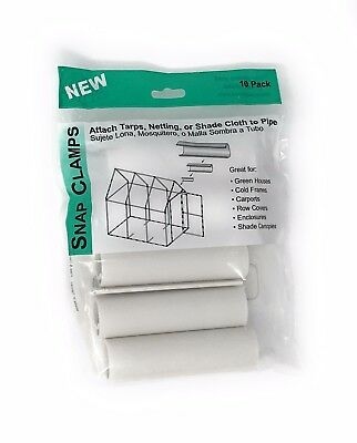 """SNAP CLAMPS - fits 3/4"""" PVC Pipe - clamp tarps fabric plastic to PVC - HD Grip"""