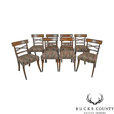 Regency Style Set of 8 Antique 19th Century Mahogany Dining Chairs