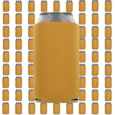 Gold Beverage Insulators Can Coolers Lot of 15 Blank Drink Sleeves