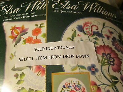 Elsa Williams Crewel Embroidery Pillow Kit -Your Choice-Jacobean, Floral Styles