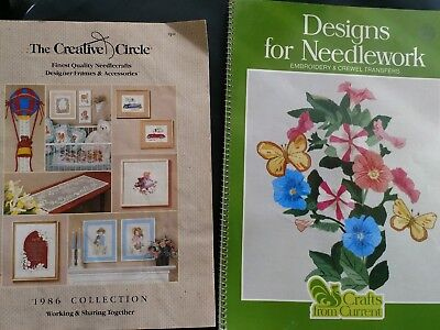 Vintage needlework needlecraft embroidery & crewel transfers
