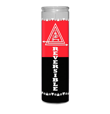 Double Action Reversible 7 Day Candle, Wicca Santeria Magick