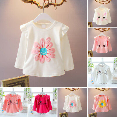 Cute T-shirt Blouse Baby Infant Sleeve Newborn Outfits Long Tops Toddler Girl
