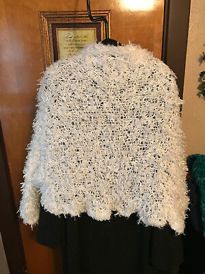 Religious Prayer/comfort Shawl Shrug Sleeves White Fits  Large & Extra Large