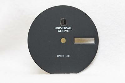 Universal Geneve Unisonic Black Day Date dial 28mm - No Markers - New Old Stock