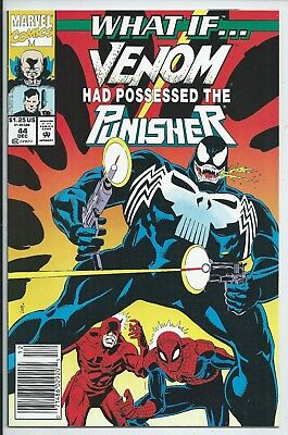 **what If? #44**(Dec 1992, Marvel )**venom Possessed The Punisher*newsstand*vf-