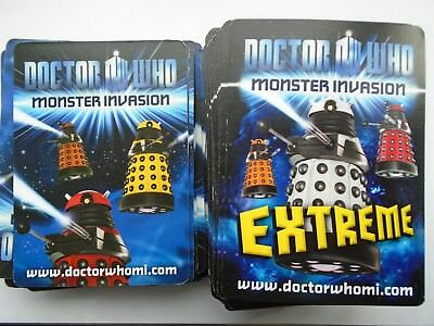136  MONSTER INVASION DR WHO CARDS with  20 rares