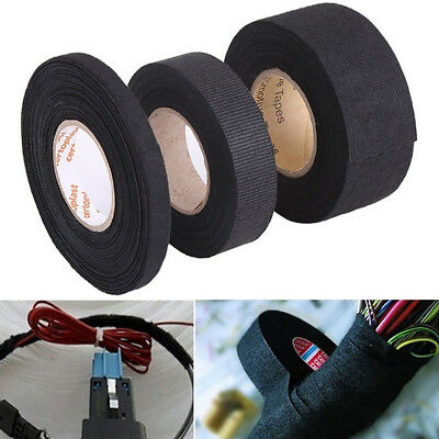 Lx_ 15M Adhesive Cloth Fabric Tape Cable Looms Wiring Harness For Car Auto Fad