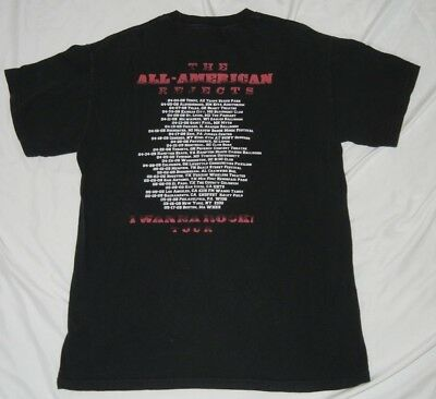 All American Rejects 2009 Tour T Shirt Size M Medium I Wanna Rock