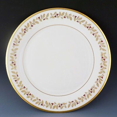 """Lenox China ETERNAL XMAS 11 3/4"""" Charger Buffet Service Lg Dinner Plate Holiday"""