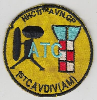 US Army ATC Air Traffic Controller 11th Aviation Group Vietnam Patch 1st Air Cav