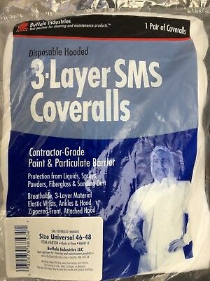 Buffalo Industries (68534) Hooded SMS Disposable Coverall - Size Universal
