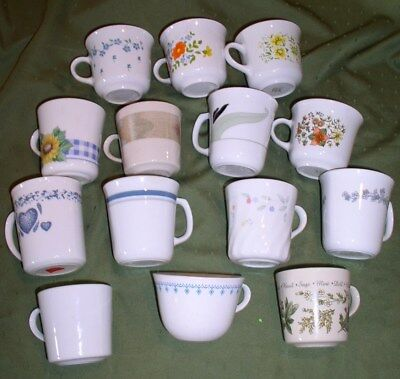 Corning Ware Corelle Cups & Mugs - OVER 50 Patterns & Options FREE U.S. SHIPPING