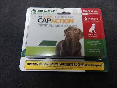 PetAction CapAction for Dogs over 25 lbs + Flea Treat Nitenpyram 6 Tablets fast