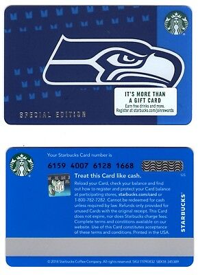 2018 Seahawks Starbucks gift card, brand new, just released,never swiped In hand