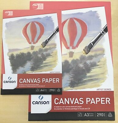 Canson Canvas Paper Pad 290 gsm, 10 sheets (A4, A3)