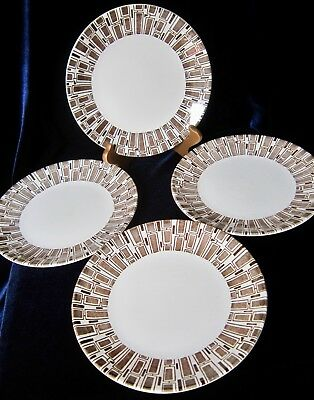 Ridgway Espresso Ironstone Side Plates - Set of 4 - 7 in. - England