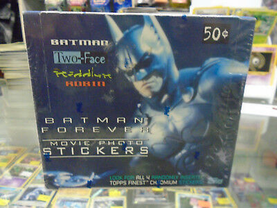 Batman Forever Topps Movie Photo Stickers Factory Sealed Box Rare