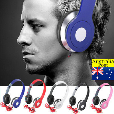 Over Ear Teens Kid Childs Foldable DJ Stereo 3.5mm Wired Headphone Game Headset