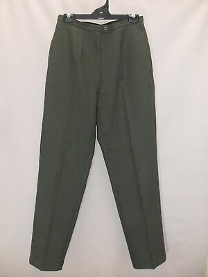 1980's Vintage High Waisted Tailored Pants with Tapered Legs.