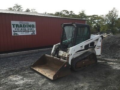 2015 Bobcat T450 Tracked Skid Steer Loader w/ Cab & Joysticks