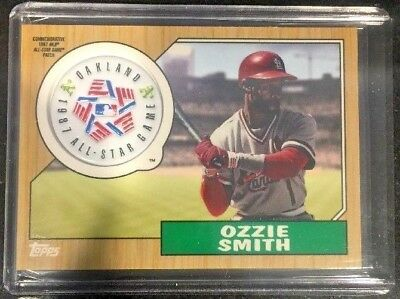 OZZIE SMITH ALL-STAR GAME PATCH '18 TOPPS SERIES 2-St Louis Cardinals - Oakland