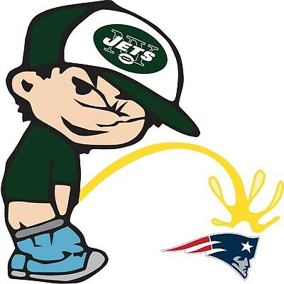 New York Jets Piss On New England Patriots NFL Color Vinyl Decal Choose SIZES