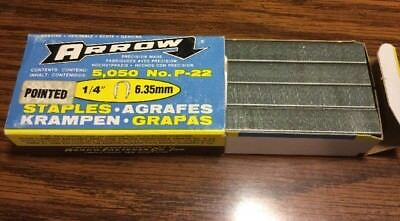 """Arrow P-22 1/4"""" Staples One 5050 Count Box Made In USA"""