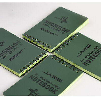 """Olive Drab All Weather Waterproof Notebook 50 sheets 3"""" x 5"""" Hot"""