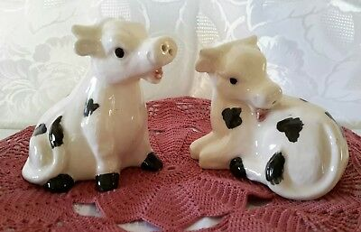 Vintage King Pottery Cow Salt and Pepper Shakers