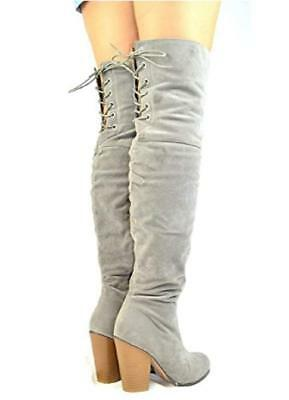 9491d8509ef Chase   Chloe Women s Over The Knee Thigh High Suede Chunky Heel Boot