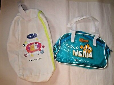 NEW Cathay Pacific Airlines Kids Disney Pixar Finding Nemo Ratatouille Small Bag
