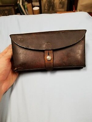 Excellent Swiss Ammo Pouch 1965 Leather Medic Pouch Schindler Goldau