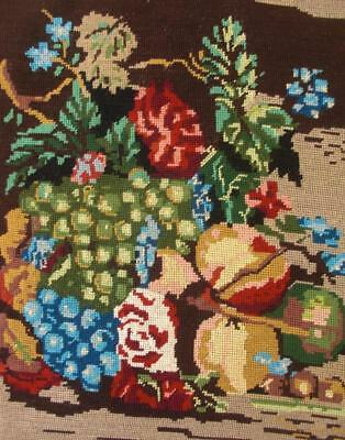 "New completed cotton needlepoint nature still by Jan Van Huysum 16.7""x13.7"""