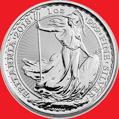 2018 1oz Silver Britannia Bullion Coin in Coin Capsule