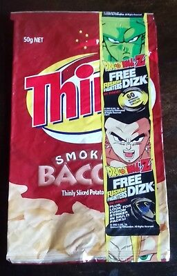 Collectable 'Dragon Ball Z' EMPTY CHIP PACKET - THINS - Smoked Bacon