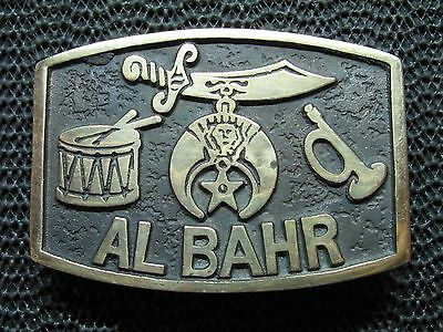 Masonic Shriner Al Bahr Egyptian Belt Buckle! Vintage! Very Rare! Age Of Bronze!