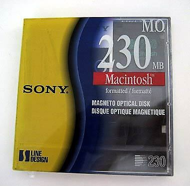 SONY PC Apple Mac MO Disk Media 230MB 230 MB Magetic Optical Disc RW Rewritable