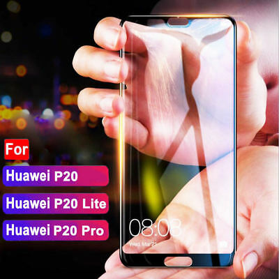Full Cover Tempered Glass Screen Protector For Huawei P20 / P20 Pro / P20 lite^&