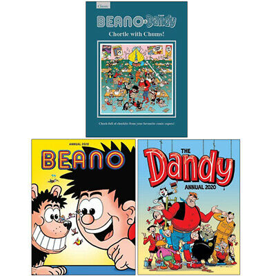 DC Thompson Collection 3 Books Set Dandy and Beano Annual Giftbook 2019 Pack