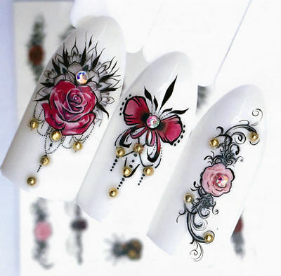 Ornamente NailArt Sticker Nagelsticker Nageldesign Tattoo 01336 - 20 Stück