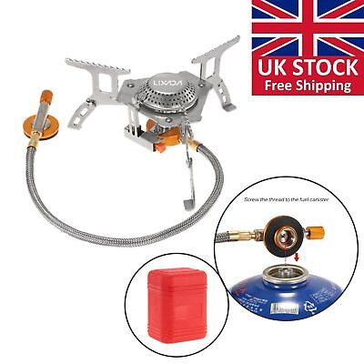 3000W Portable Outdoor Camping Hiking Gas Stove Folding Cooking Burner UK N8R2