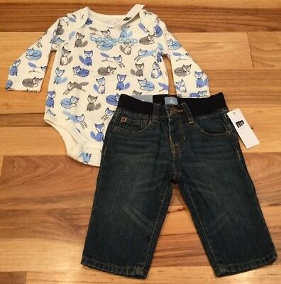 Baby Gap Boys Jeans Tags New w Soft Elastic Waistband 6-12 Month WAS $24.99