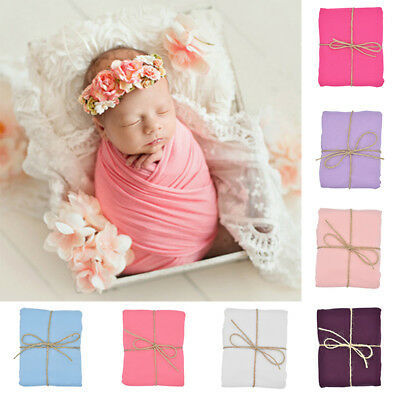 Newborn Baby Photography Photo Props Stretch Wrap Baby Swaddle Wrap Candy Color