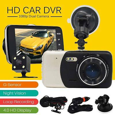 "4"" Dual Lens Camera HD 1080P 170Â Car DVR Video Dash Cam Recorder Night Vision"