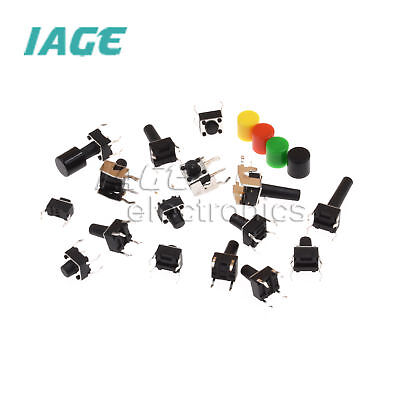 Push Button Micro Switch Tact Switch 3X6X5mm-6X6X17mm 2/4-pin DIP Right Angle