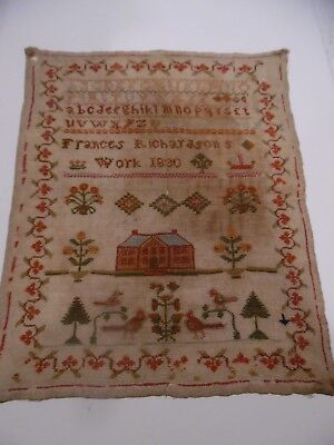 Frances Richardson Sampler 1830